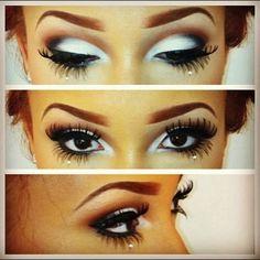 eyes white black and brown  #makeup make-up