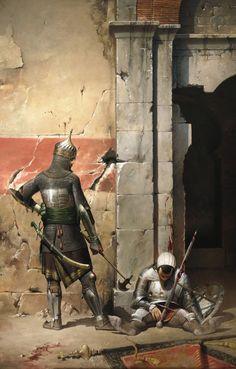 Ottoman sipahi and Aragonese mercenary, Jose Daniel Cabrera Peña on ArtStation at http://www.artstation.com/artwork/ottoman-sipahi-and-aragonese-mercenary