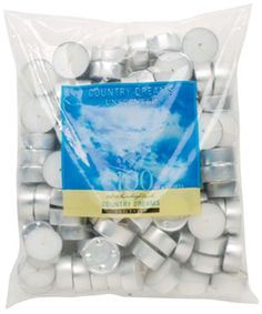 Country Dreams Unscented Tea Lights 100/Pkg-White Darice http://www.amazon.com/dp/B001681QZ8/ref=cm_sw_r_pi_dp_lap7ub15ZG4EV