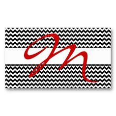 Chevron Initial Design Business Card