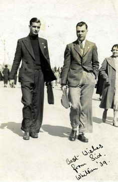 Vintage men's fashion 1930s