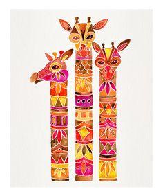CatCoq Fiery Palette Giraffes Print   zulily