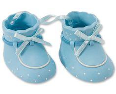 Baby Booties DecoSet® Cake Topper, Blue