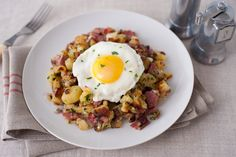 Pastrami Hash With Confit Potatoes, Parsley and Shallots by Julia Moskin