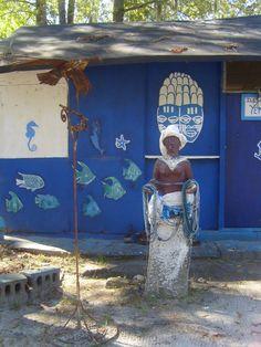 Yemaya shrine @ Oyotunji Village in South Carolina.  goddess of the sea altar statue africa meditate