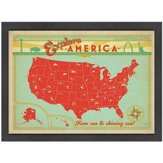 Explore America Map.