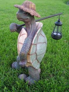 Amazon.com: Turtle with Solar Light/Lantern, Solar Turtle Statue/Figurine: Home Improvement