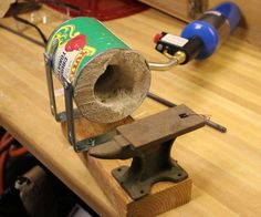 how to make a soup can forge and how to forge a knife from it