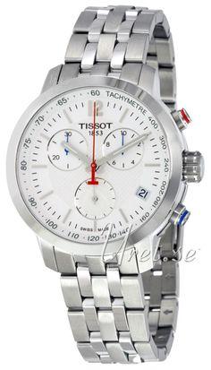 Tissot PRC 200 Quartz Chronograph Gent Nba Vit/Stål Ø41 mm