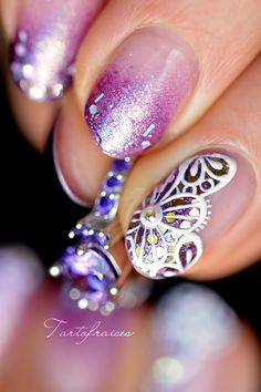Nail art festive lace in thick gel Jolie Nail Art, Easter Nail Designs, Nailart, Lace Painting, Dotting Tool, Manicure Y Pedicure, I Am Beautiful, Easter Nails, Color Club