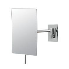 "Mirror Image - Minimalist Rectangular Wall Mirror - Chrome. The chicness of the Minimalist Rectangular Wall Mirror makes this piece great to make any trip to the vanity feel like an exclusive treat. The 9 ½"" x 6 ¼"" dimensions, 7"" arm extension, 3x magnification, and visible concave of this single sided mirror really inspires a new fun side of any vanity, and all it sees. Available in two finishes."
