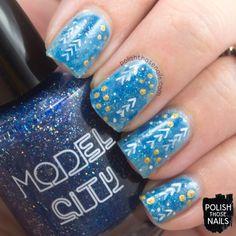 Frozen Abstract // Polish Those Nails // The Nail Challenge Collaborative - Holiday Season // Inspired by Vistaprints // indie polish - model city polish - winter