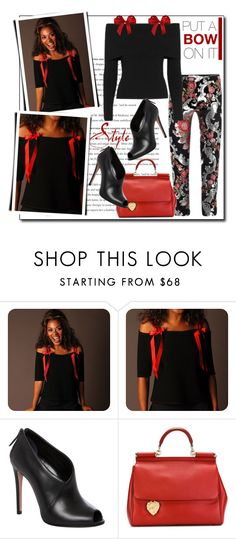 """""""Put a bow on it"""" by court8434 ❤ liked on Polyvore featuring E.vil, A.L.C., Prada, Dolce&Gabbana and bows"""