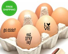 Chicken Stamper For Eggs - Chicken Coop Egg Stamp - Custom Small Chicken Egg Stamps - Homestead Decor - Easter Funny Gift - Organic Gathered