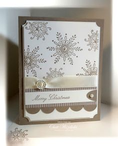 Stampin' Up! Christmas  by Chat Wszelaki at Me, My Stamps and I