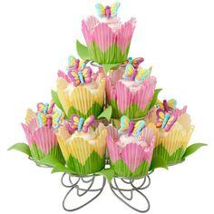 Wilton's Butterfly Cupcake Garden will  brighten up your spring!  #luckyleafluckyme