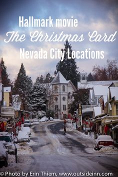 Hallmark Christmas Card Movie Nevada City location guide, mark your calendar to see the classic holiday movie filmed in Nevada City. Showings start on Wednesday, November at The Christmas Card Movie, Christmas Lyrics, Hallmark Christmas Movies, Christmas Town, Hallmark Movies, Christmas Cards, Películas Hallmark, Hallmark Channel, Classic Holiday Movies