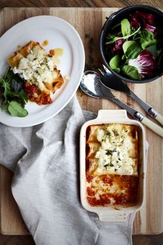 Roast Pumpkin, Spinach and Ricotta Cannelloni with Cauliflower Sauce