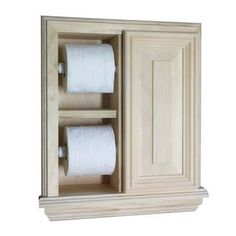 In the Wall Toilet Paper Holder Deluxe 14715428 Give your bathroom a cleaner, simpler look with this in-wall toilet paper holder. It features spring-loaded roller to make it easy to use, an extra slot for a second roll of paper, and a small cabinet, so you can keep necessities close by