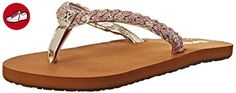 Reef Reef Little Twisted, Mädchen Zehentrenner, Gold (tan/pink Glitter), 23-24 - Reef schuhe (*Partner-Link)