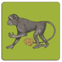 Avenida Home Puddin' Head Monkey Placemat