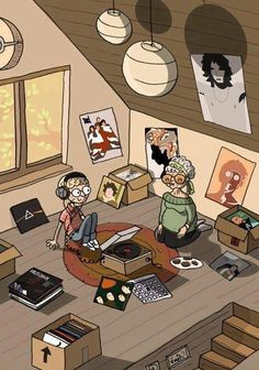 Just for fun! Believe it or not, I used to do this with my grandma. She was a music lover :)