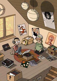 attic record party