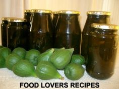 HEEL GROEN VYE KONFYT Fig Recipes, Canning Recipes, Coffee Recipes, Sweet Recipes, Recipies, Wow Recipe, Recipe Today, Fig Preserves Recipe, Kos