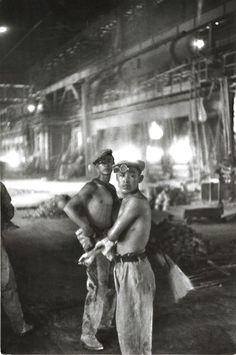Chinese Factory Workers.       Henri Cartier-Bresson, 1954