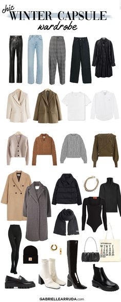 Winter Outfits Women, Casual Winter Outfits, Winter Fashion Outfits, Trendy Outfits, Capsule Outfits, Fashion Capsule, Capsule Wardrobe Winter, Fashion Basics, Minimalist Winter Outfit
