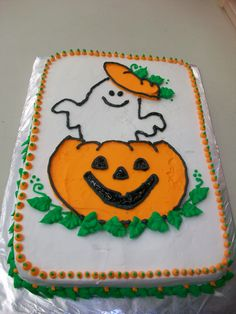 Halloween Cake / from a cake decorating class!!
