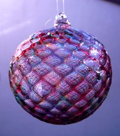 HAND BLOWN GLASS Christmas Ornament