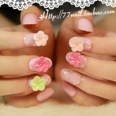 Aliexpress.com : Buy 2013 New Arrivals Tender pink flower series girl false nail,3d acrylic fake nails,free shipping from Reliable the painted nail suppliers on Jessie's shop. $6.88