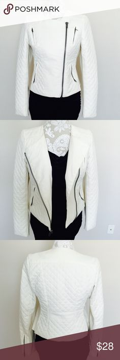 Catherine Malandrino jacket In good & used condition. 100% polyurethane, Color: pearl Catherine Malandrino Jackets & Coats