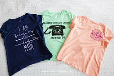 Creating one of a kind custom t-shirts is fun and easy using my Cricut Explore. Check out these three shirts I made for a friend. Diy Adult, Cricut Explore Air, Happy Together, T Shirt Diy, Homemade Gifts, Handmade Crafts, Shirt Outfit, Screen Printing, Cricut Ideas