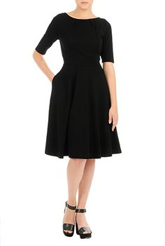 Cotton knit fit and flare dress from eShakti.  Use this link for $40 off your first order: http://share-eshakti.com/x/3Bi3tt