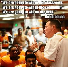 Yet another reason why I LOVE Butch Jones!