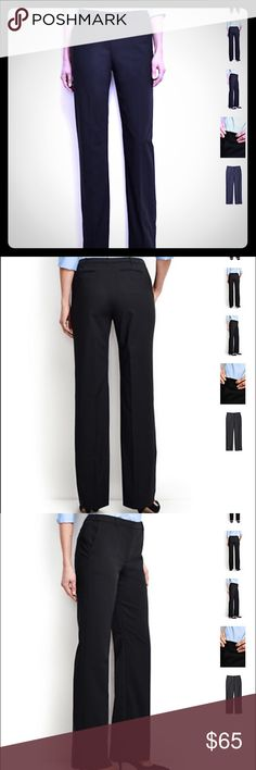 ❗️Lands' End Washable Black Dress Pants❗️ Woven from a comfortable blend of 53% polyester 43% wool with 4% Lycra spandex for just a touch of stretch. Fully Lined Lands' End Pants Trousers