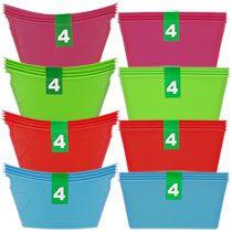 Mini Plastic Storage Containers, 4-ct. Packs