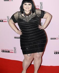 PARIS, FRANCE - FEBRUARY 28:  Beth Ditto arrives for the 39th Cesar Film Awards 2014 at Theatre du Chatelet on February 28, 2014 in Paris, F...