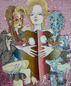 Check out Del Kathryn Barton, our shiver From Arndt Art Agency Australian Painting, Australian Artists, Andy Warhol Works, Del Kathryn Barton, Contemporary Paintings, Contemporary Landscape, Abstract Paintings, Pattern Art, Art Studios