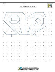 Line Symmetry Sheet 5, a symmetry worksheet 3rd grade
