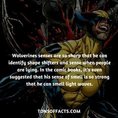 His senses are so sharp that he can identify shape shifters and sense when people are lying. In the comic books, it's even suggested that his sense of smell is so strong that he can smell light waves. Comic Book Characters, Marvel Characters, Comic Character, Comic Books, Marvel Facts, Marvel X, Marvel Memes, Marvel Dc Comics, Venom Comics