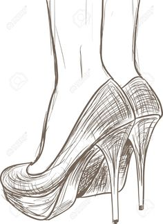 Schuhe skizzieren - Stock Illustration # 13405236 - Drawings and Tutorials - Pencil Art Drawings, Art Drawings Sketches, Easy Drawings, Art Sketches, Simple Sketches, Pencil Drawing Tutorials, Shoe Sketches, Fashion Sketches, Art Du Croquis