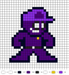 Purple Guy (FNaF) Perler Bead Pattern