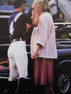 June 7, 1984: Prince Charles & Princess Diana at the Smith's Lawn polo grounds in Windsor.