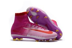 801d7eab364bb Nike Mercurial Superfly V FG Soccer Shoes Purple White Red on  www.evensoccer.com