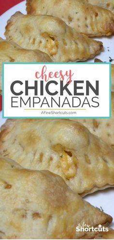 Easy Chicken Recipes, Easy Dinner Recipes, Crockpot Recipes, Cooking Recipes, Recipe Chicken, Chicken Empanadas Recipe Easy, Healthy Recipes, Bbq Chicken Pizza, Cheesy Chicken
