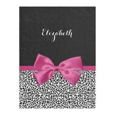 Shop Vivacious Dark Pink Ribbon Leopard Print With Name Fleece Blanket created by ohsogirly. Purple Ribbon, Ribbon Bows, Personalized Throw Blanket, Pink Leopard Print, White Leopard, Fleece Throw, Fleece Blankets, Throw Blankets, Edge Stitch