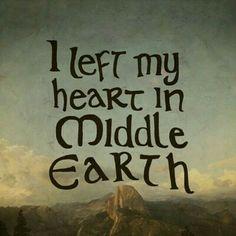 I left my heart in middle earth!  #mittelerde #tolkien #derhobbit #derherrderringe #middleearth #heart #echteliebe #anderewelt #spruch